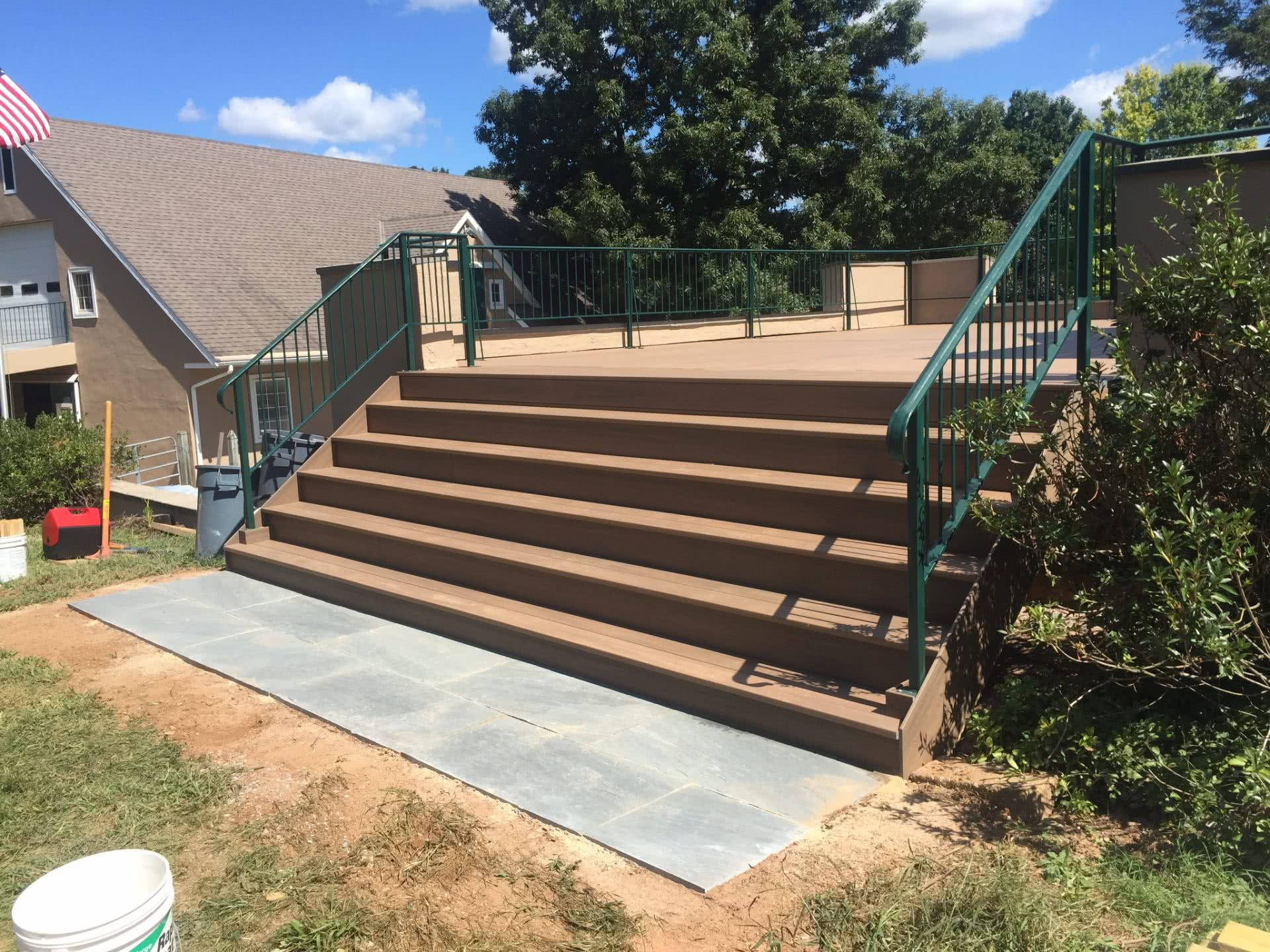 Stairs with Flagstone Walkway